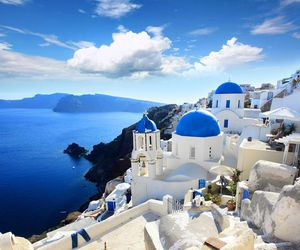 Greece, travel, and blue image