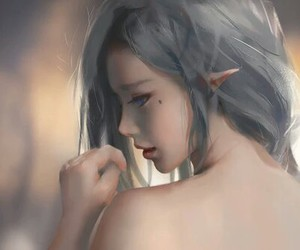 gray, hair, and pretty image