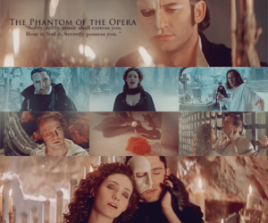 emmy rossum, gerard butler, and The Phantom of the Opera image