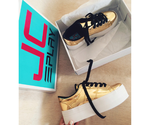 gold, jeffrey campbell, and shoes image