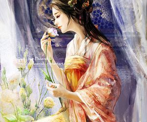 art, asian girl, and beautiful image