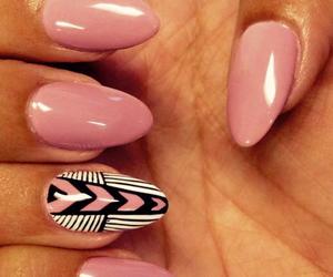 nails, girly, and long image