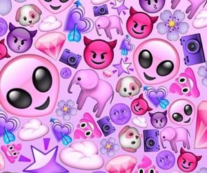 emoji, pink, and purple image