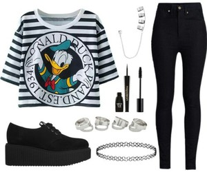 black, creepers, and donald duck image