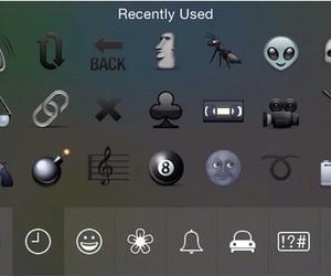 black, keyboard, and emoji image