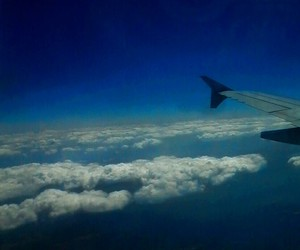 airplane, fly, and clouds image