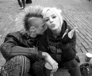 punk, couple, and girl image