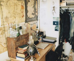 vintage, room, and book image