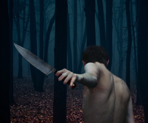forest, knife, and murder image