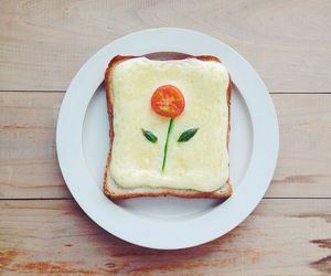 breakfast, cheese, and flower image
