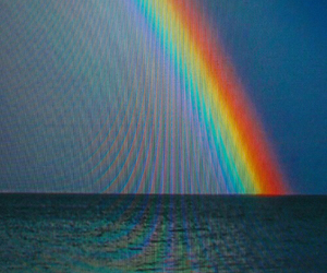 holographic, rainbow, and trippy image