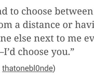 choose, distance, and me image