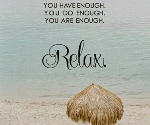 relax, quote, and beach image