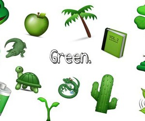 emoji and green image