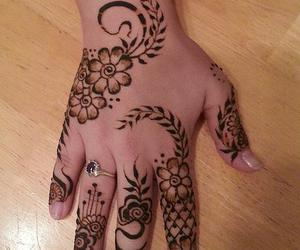 henna, mehndi, and mehendi image