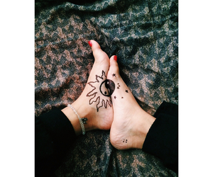 black, foot, and tattoo image
