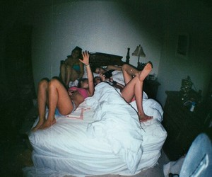 girls, night, and together image