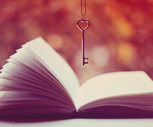 book, key, and read image