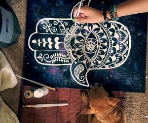 art, drawing, and dog image