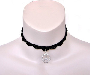 peace necklace, peace jewelry, and hippie jewelry image