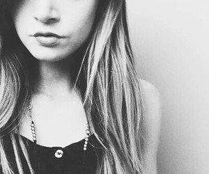 b&w, girl, and chrissy costanza image