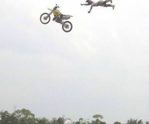 dirt bike, fly, and fun image