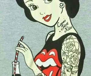 disney, snow white, and tattoo image