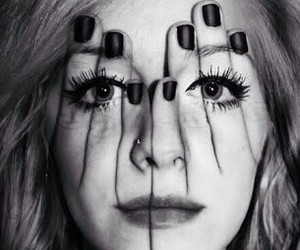 girl, eyes, and face image