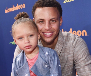 steph curry, Father and Daughter, and love image