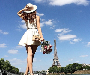 beautiful paris dress and white paris dress image
