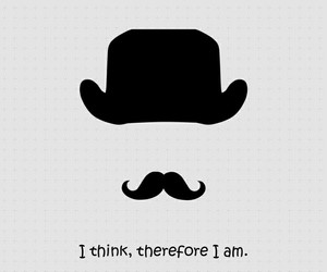 quotes, mustache, and hat image