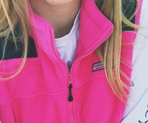 blonde, pink, and preppy image