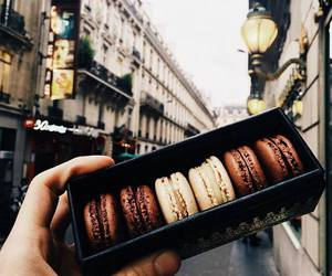 macaroons, chocolate, and food image