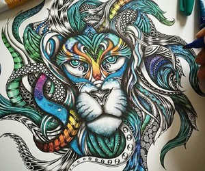 colors, draw, and lion image