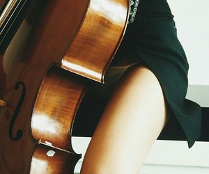 girl, cello, and music image