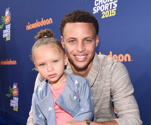 stephen curry, steph curry, and riley curry image