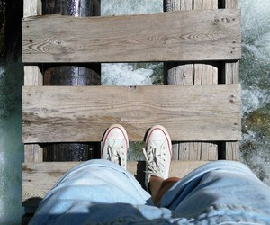 bridge, dungarees, and shoes image