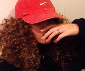 nike, hair, and hat image