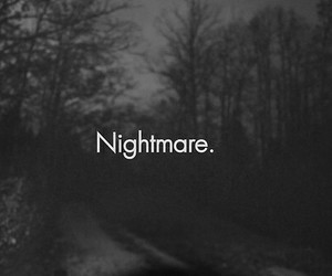nightmare, dark, and black and white image