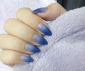 blue, nails, and stiletto image