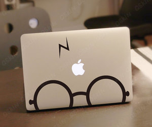 harry potter, apple, and macbook image