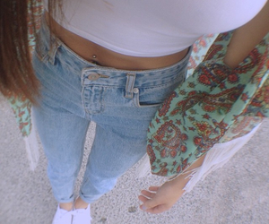 jeans, clothes, and hair image