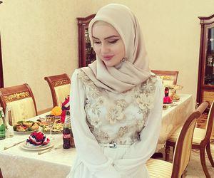 beauty, style, and hijab image
