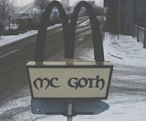 goth, black, and McDonalds image
