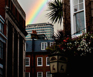 rainbow, city, and tumblr image