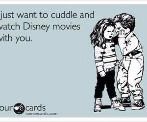 cuddle, disney, and ecards image