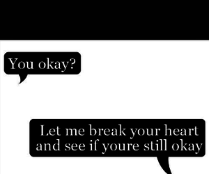 black & white, broken heart, and conversations image