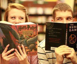 harry potter, book, and hunger games image