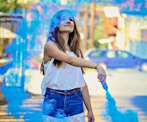 beauty, summer, and blue image