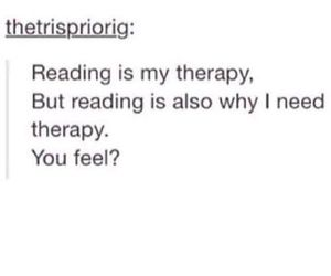 books, reading, and therapy image